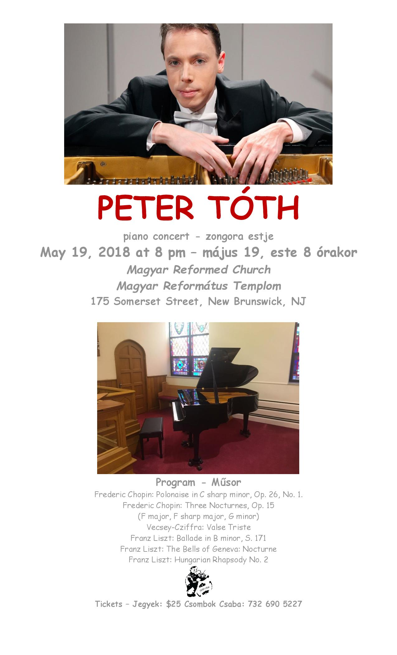 peter toth concert kep